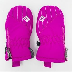 Columbia Pink Mittens Infant OS